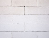 Textura del fondo del bloque de cemento ligero blanco, c hecha espuma imágenes de archivo libres de regalías