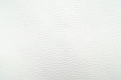 Textura del fondo del cuero blanco Fotos de archivo