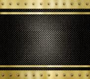 Textura del fondo del metal del oro stock de ilustración