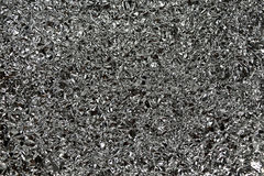 Textura del fondo del papel de aluminio Fotografía de archivo libre de regalías