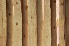 Textura del fondo Nueva pared de madera ligera hecha de tableros fotografía de archivo libre de regalías