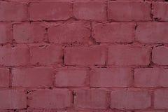 Textura del fondo rosado de la pared de ladrillo Primer abstracto retro de la pared de ladrillo rosada pintada textura Arquitectu fotografía de archivo libre de regalías