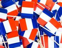 Textura del fondo - un revoltijo de los palillos franceses tricolores de la bandera imagenes de archivo