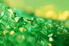 Textura del fondo verde, ágata de los cristales Macro Fotos de archivo libres de regalías