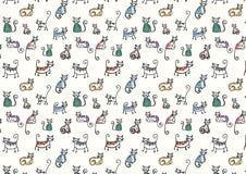 Textura del gato nacional Lyin y sittin en diversas actitudes Imagen de archivo