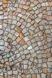 Textura del guijarro en ciudad vieja Imagen de archivo libre de regalías