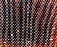 Textura del hexágono del fondo, panal de la cera Imagen de archivo