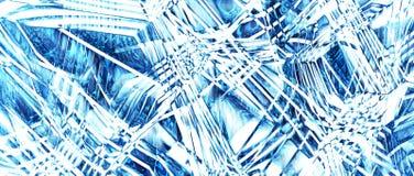 Textura del hielo, abstracción Opción 2 representación 3d