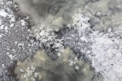 Textura del hielo, agua congelada Foto de archivo libre de regalías