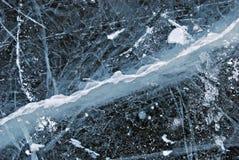 Textura del hielo, fondo del invierno de la nieve Imágenes de archivo libres de regalías