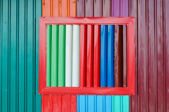 Textura del hierro de los colores útil para el fondo fotografía de archivo