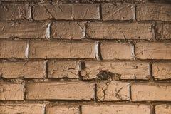 Textura del ladrillo del oro Fotos de archivo
