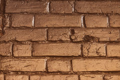 Textura del ladrillo del oro Imagen de archivo