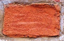 Textura del ladrillo rojo en primer Fotografía de archivo