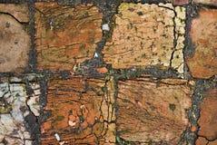Textura del ladrillo sucio viejo en las grietas foto de archivo