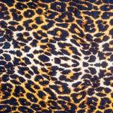 Textura del leopardo rayado de la tela Fotos de archivo libres de regalías