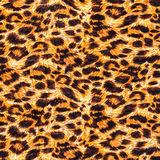 Textura del leopardo rayado de la tela Foto de archivo libre de regalías