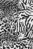 Textura del leopardo rayado de la tela Fotos de archivo