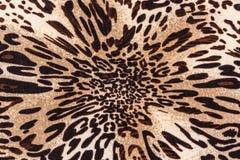 Textura del leopardo rayado de la tela Imagen de archivo