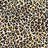 Textura del leopardo rayado de la tela Imágenes de archivo libres de regalías