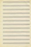 Textura del libro de música viejo Fotos de archivo libres de regalías