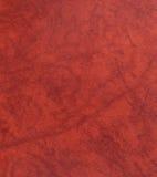 Textura del libro rojo Imágenes de archivo libres de regalías