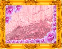 textura del marco del oro Foto de archivo libre de regalías