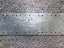 Textura del metal con el fondo de los remaches Foto de archivo
