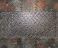 Textura del metal con el fondo de los remaches Imágenes de archivo libres de regalías