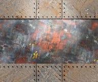 Textura del metal con el fondo de los remaches Foto de archivo libre de regalías