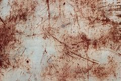 Textura del metal con una superficie rasguñada Foto de archivo libre de regalías