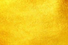 Textura del metal del fondo del oro Fotos de archivo libres de regalías