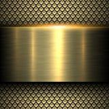 Textura del metal del oro del fondo stock de ilustración