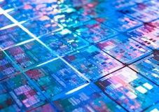 Textura del microchip del fondo de la placa de circuito del ordenador Imagen de archivo