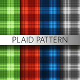 Textura del modelo de la tela escocesa Imagenes de archivo