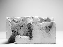 Textura del molde de yeso fotos de archivo