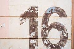 Textura del número 16 Imágenes de archivo libres de regalías