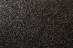Textura del negro de cuero Imagen de archivo