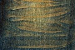 Textura del paño de los pantalones vaqueros Fotos de archivo