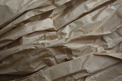 Textura del papel arrugado arte marrón fotos de archivo