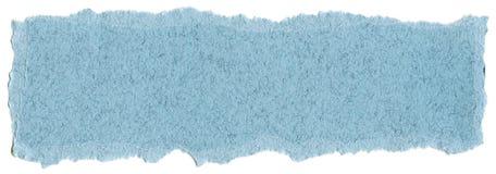 Textura del papel de la fibra - azul en colores pastel con los bordes rasgados imagen de archivo