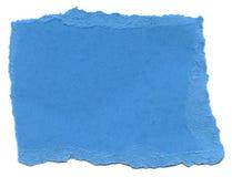 Papel de la fibra de los azules cielos - bordes rasgados fotografía de archivo libre de regalías