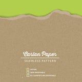 Textura del papel del cartón del vector con un borde rasgado continuo libre illustration