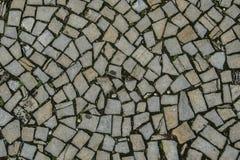 Textura del pavimento de mosaico Imágenes de archivo libres de regalías