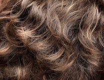Textura del pelo rizado Fotografía de archivo