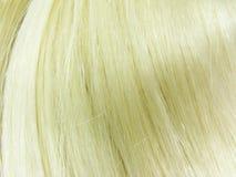 Textura del pelo rubio Foto de archivo libre de regalías
