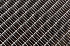 Textura del piso de la rejilla del metal Fotografía de archivo