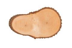 Textura del primer de madera aislada en el fondo blanco Fotografía de archivo libre de regalías