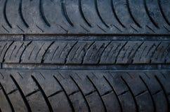 Textura del primer de un neumático del coche Imagen de archivo libre de regalías