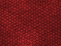 Textura del reptil - escalas del rojo ilustración del vector